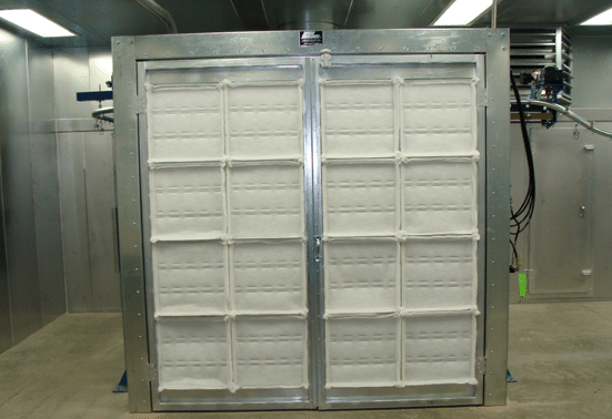 Spray Booth Filters in Booth