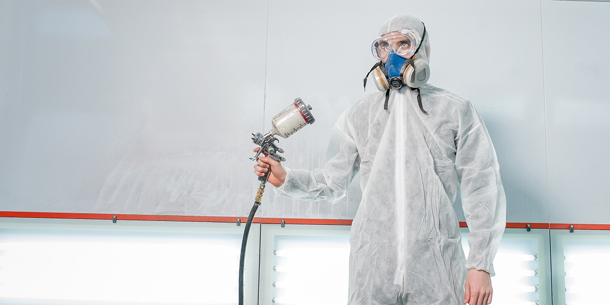 Repair and painting spray booth